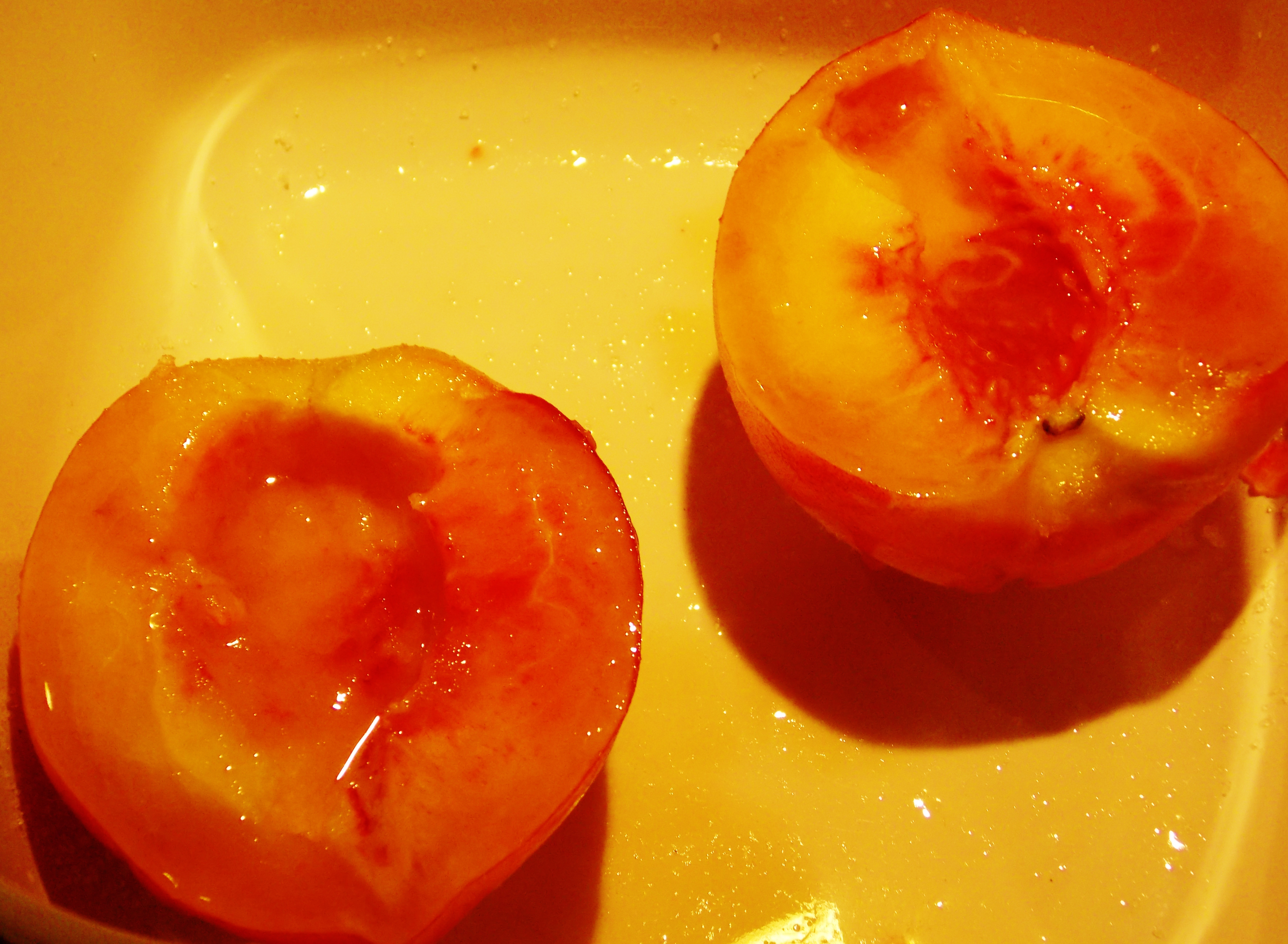Baked Peaches With Maple Syrup & Vanilla Recipes — Dishmaps